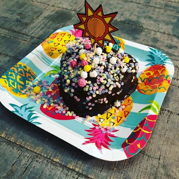 8 x Pappteller Sommerparty Ananas Hawaii Beachparty Kindergeburtstag Partygeschirr