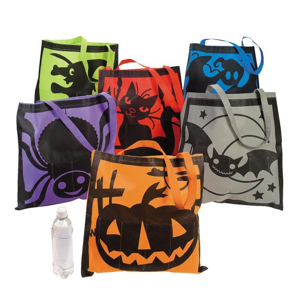 3 x Halloween Tasche Beutel Sack Kürbis Hexe Fledermaus Spinne Gespenst Spinne