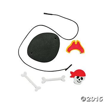 6 x Piraten Bastelset Augenklappen Piratenklappen Piratenparty Geburtstag Mitgebsel Schatzsuche