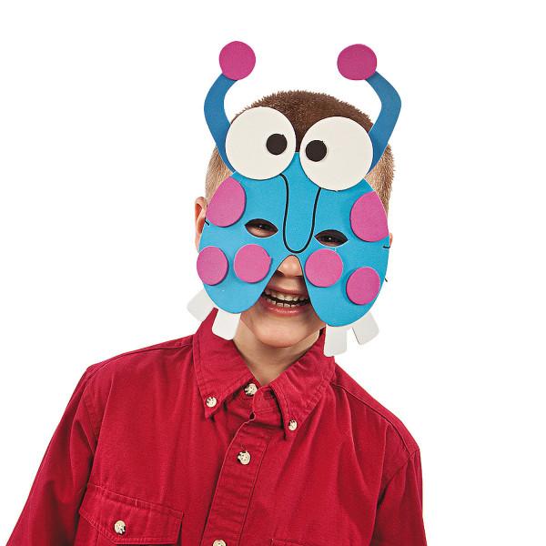 6 x Bastelset Monster Masken Mitgebsel für Bastelparty, Monsterparty Geburtstag
