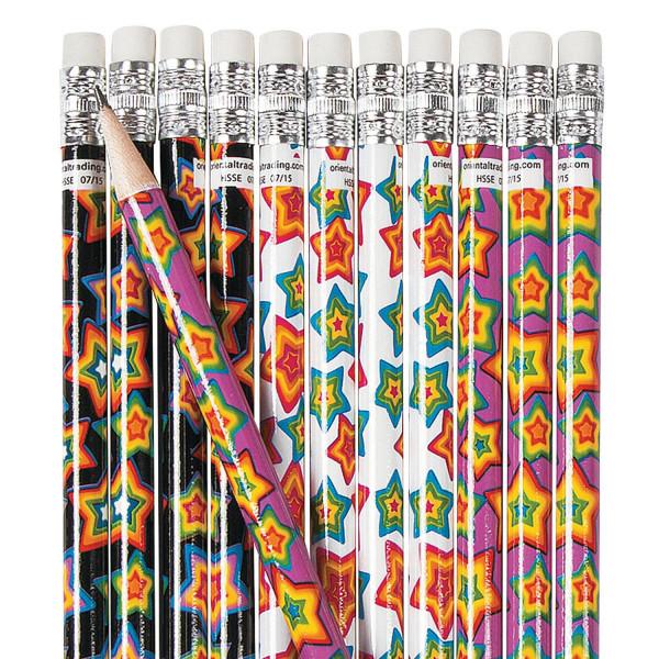12 x Bleistifte Sternchen Weltraum für Schulanfang Mitgebsel oder Kindergeburtstag