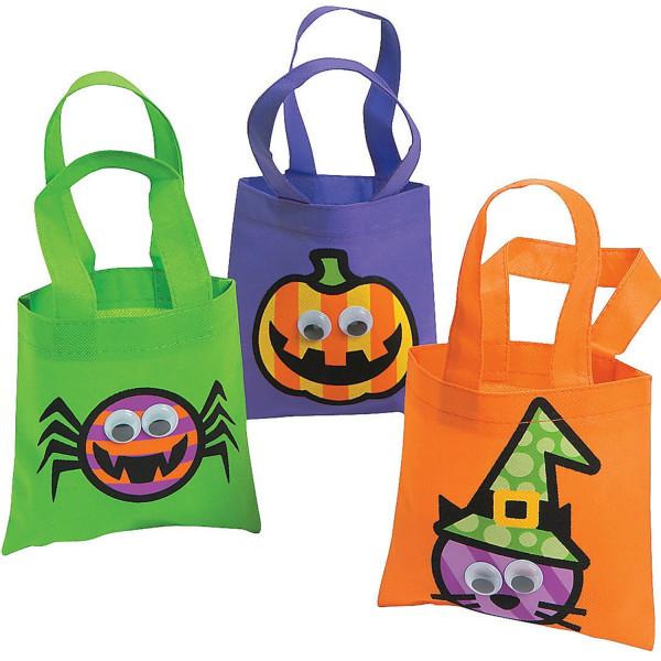 3 x Tasche Beutel Spinne Kürbis Hexe Kindergeburtstag Halloween Party