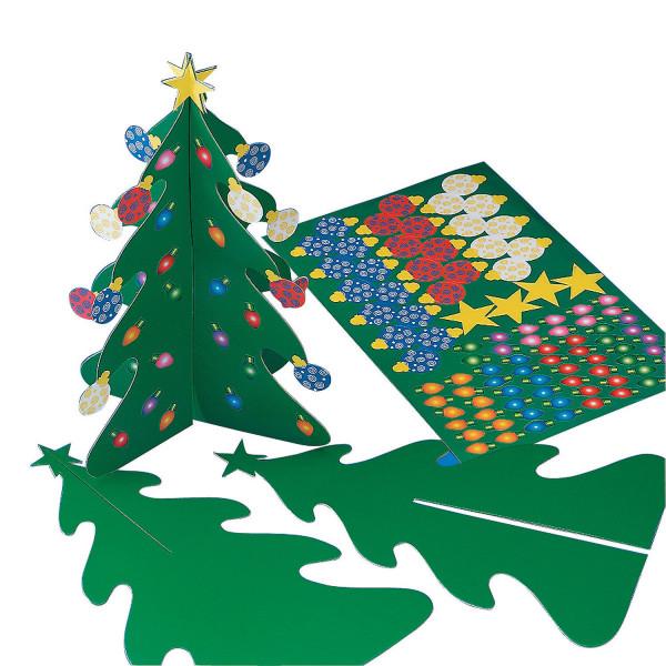 6 x Bastelset Weihnachten Weihnachtsbaum Adventskalender Tannenbaum Christbaum Advent