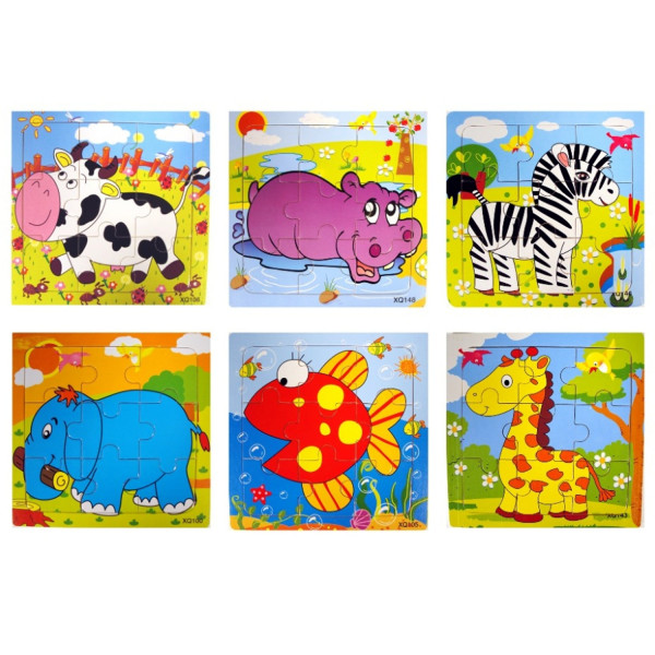 2 x Zootiere Holzpuzzle Wilde Tiere Puzzle Mitgebsel Kindergeburtstag Adventskalender Zooparty Kinde