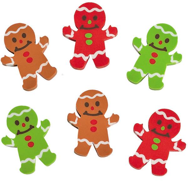 12 x weihnachtliche Lebkuchenmann Radierer Lebkuchen Weihnachten Nikolaus Adventskalender