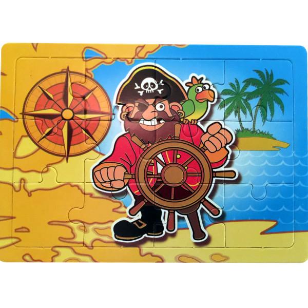6x Puzzle für Piraten auf der Piratenparty! Ideal als Mitgebsel für die Geschenktüte Schatzsuche