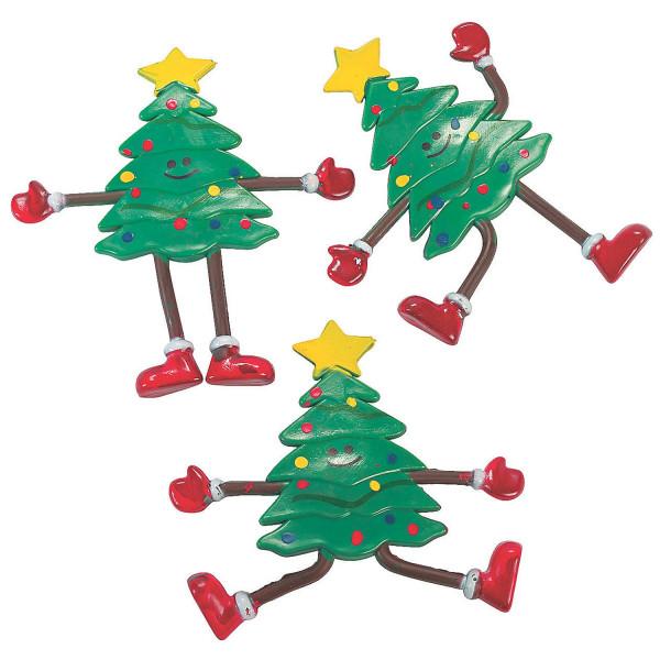 6 x Christbaum Biegefigur Tannenbaum Weihnachten Weihnachtsbaum Wichtel Nikolaus Weihnachtsdeko