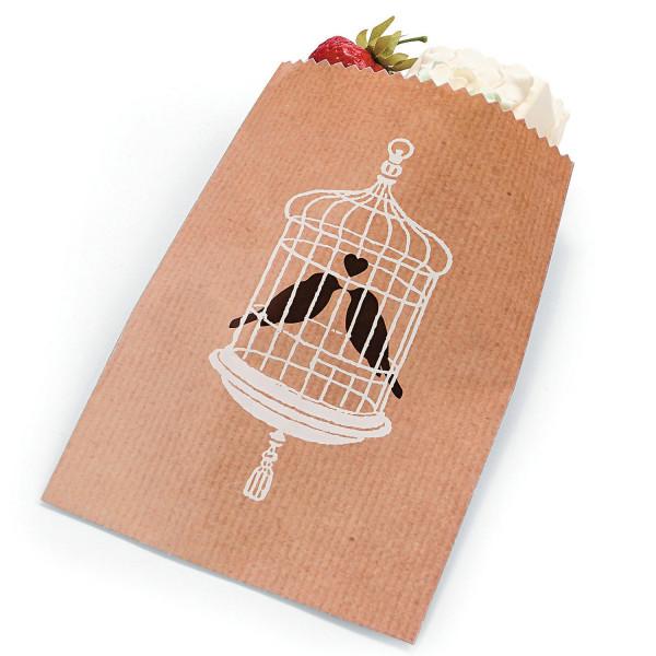 25 x Kekstüte Kekse Verpackung Tüte Beutel Backen Geschenkbeutel Hochzeit Geschenktüte Taufe Liebe E