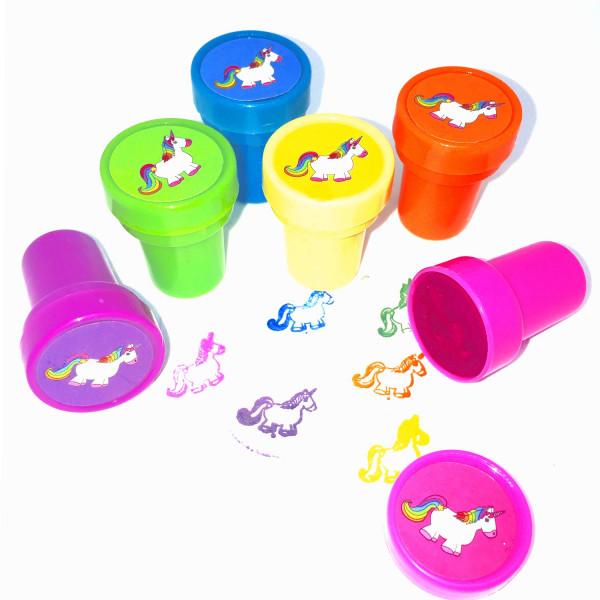 6 x Einhorn Stempel Mitgebsel Kindergeburtstag Kinderstempel Einhornparty Giveaway Kinderparty