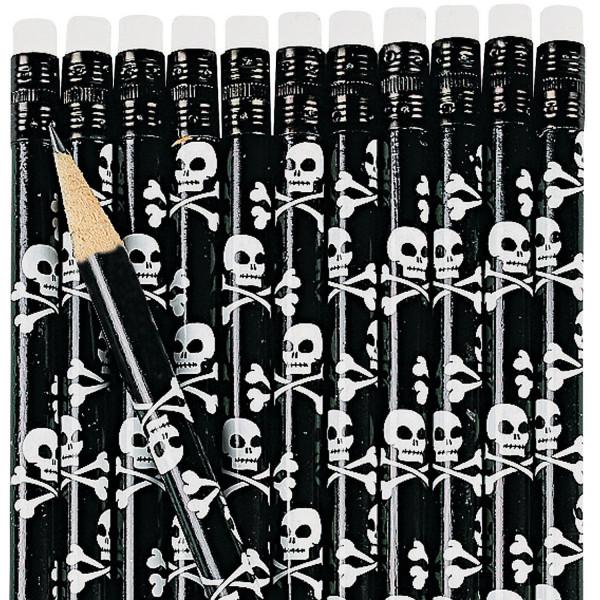 6 x Bleistift Pirat Piratenparty Skelett Geburtstag Mitgebsel Totenkopf Kindergeburtstag Einschulung