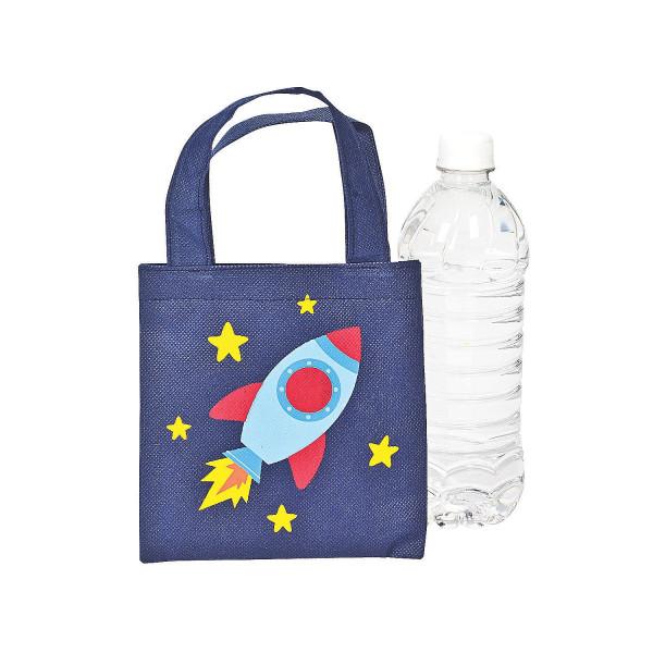 6 x Tasche Rakete Beutel Space Giveaway Kindergeburtstag Astronaut Mitgebsel Raumschiff Weltraum Wel