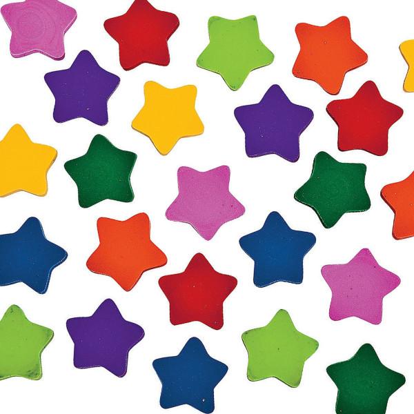 50 x Mini Stern Radierer Radiergummi für Schulanfang Schultüte Tischdeko als Mitgebsel