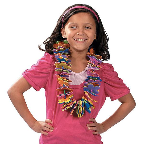 12 x Bastelset Aloha Hawaiikette Kindergeburtstag