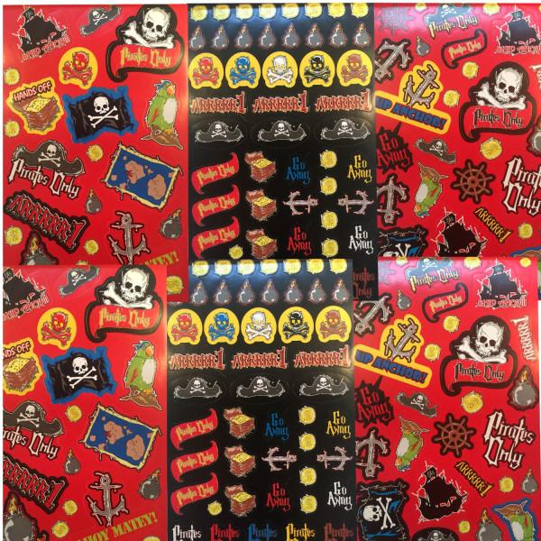 204 Sticker Piraten Aufkleber für deine Piratenparty als Mitgebsel zum Kindergeburtstag oder zum Sam