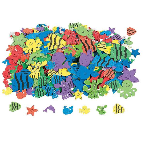 3 Bögen Sticker (120 Stück) Aufkleber Fisch Seestern Wal Kindergeburtstag Ozean Meer