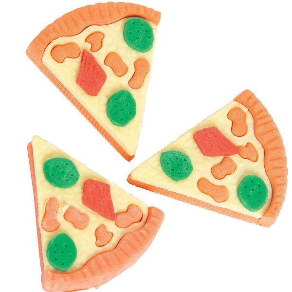6 x Radierer Pizza Radiergummi Pizzaparty Mitgebsel Geburtstag Einschulung Schultüte