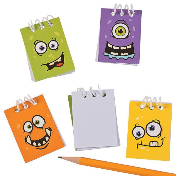 12 x Notizblock Blöcke Mitgebsel Monster Notizen Monsterparty Kindergeburtstag Geburtstag Halloween