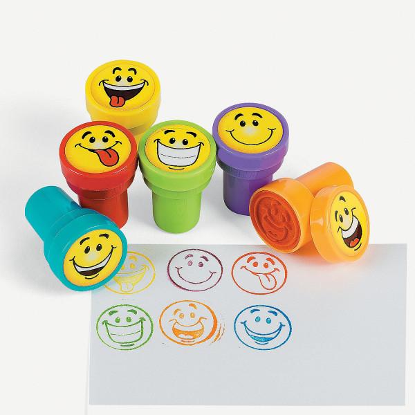 6 x Stempel Smiley Happy Kindergeburtstag Giveaway Geburtstag Adventskalender
