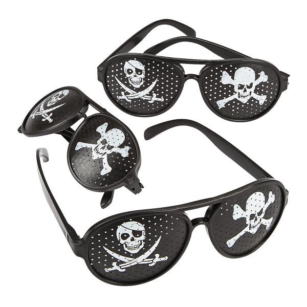 6 x Piratenbrille Piratenparty Kindergeburtstag Mitgebsel Giveaway Pirat Totenkopf Schlagermove Prei