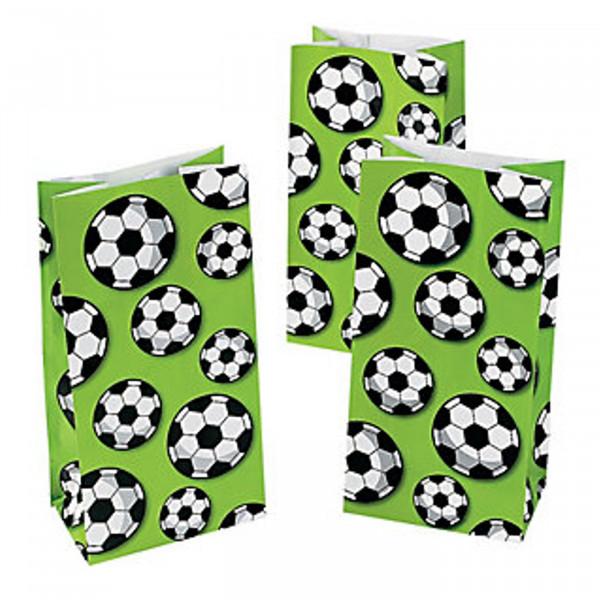 12 x Fußball Soccer Geschenktüten Tüten Beutel Mitgebsel Fußballparty Kindergeburtstag Sport Geburts
