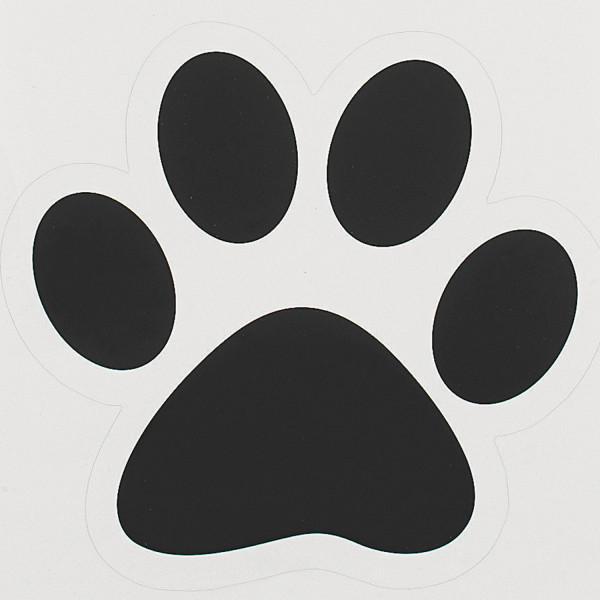 6 x große Pfoten Sticker Aufkleber Tierpfote Hund Katze Bodenaufkleber Tiere Deko Tierparty