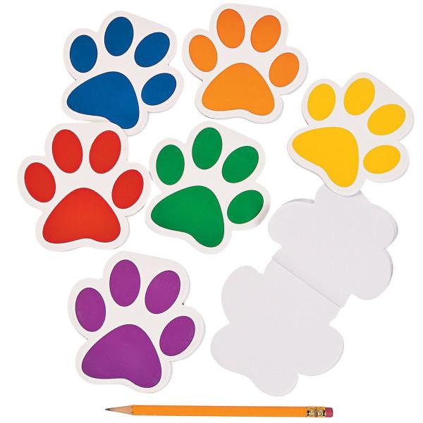 6 x Pfoten Notizblock Notizen Mitgebsel Kindergeburtstag Tierparty Mitbringsel Kinderparty