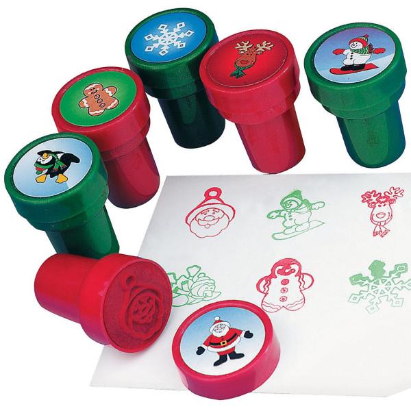 6 x Stempel Lebkuchenmann Weihnachten Adventskalender Giveaway Kalender Kinder Jungen Mädchen Kinder