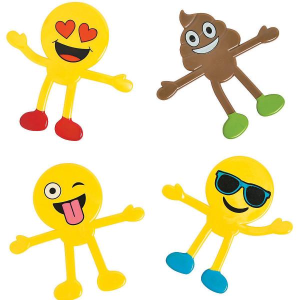 6 x Emoji Smiley Biegefiguren Kindergeburtstag Mitgebsel Geschenketüte Junge Mädchen