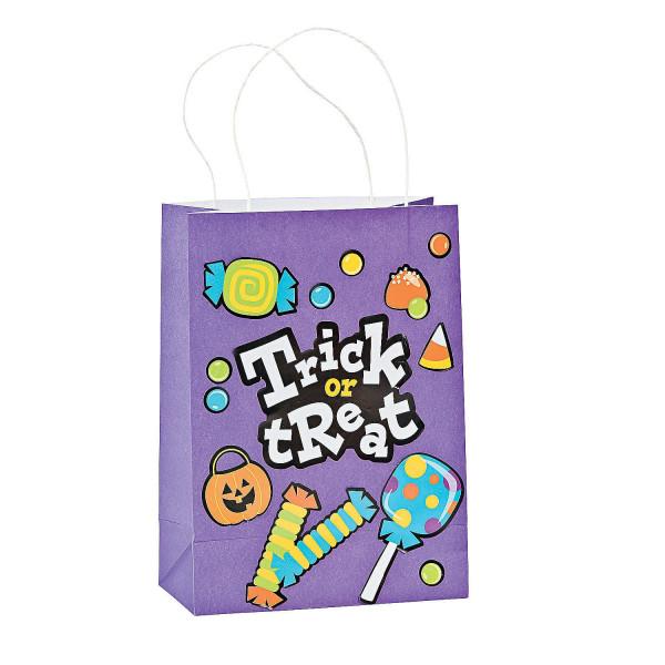 4 x Halloween Bastel Tüte Beutel DIY Aufkleber und Tasche für deine Halloweenparty / Tragetasche