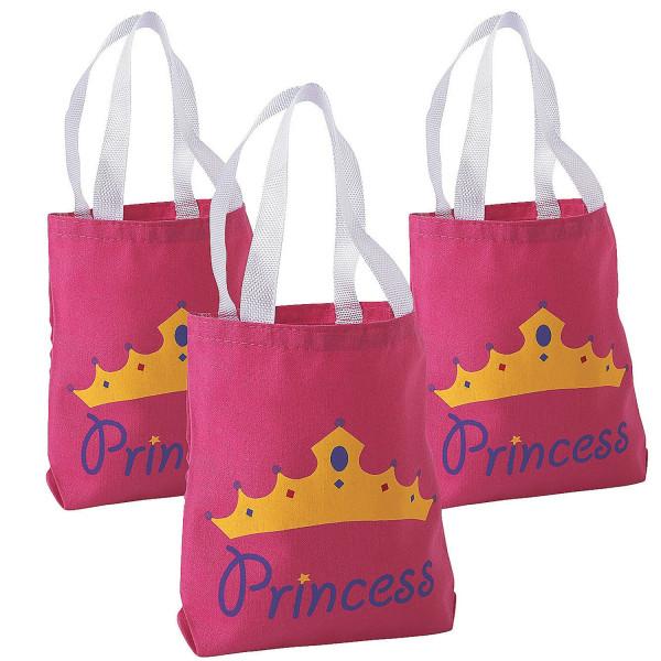 4 x Prinzessin Tasche Mitgebsel Beutel Mitgebtüte Geschenktüte rosa Tüte Geburtstag Kindergeburtstag
