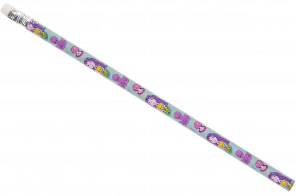 12 x Bleistifte Kleine Meerjungfrau - Mit Radiergummi zum Zeichnen und Malen - Mitgebsel für Schule