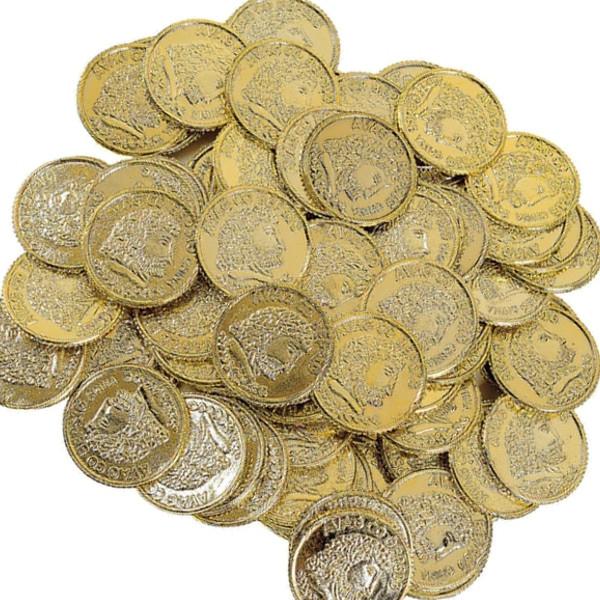 144 Goldtaler Goldmünzen Piratengeld Gold Schatzsuche Spielgeld Schatz Piraten Geburtstag
