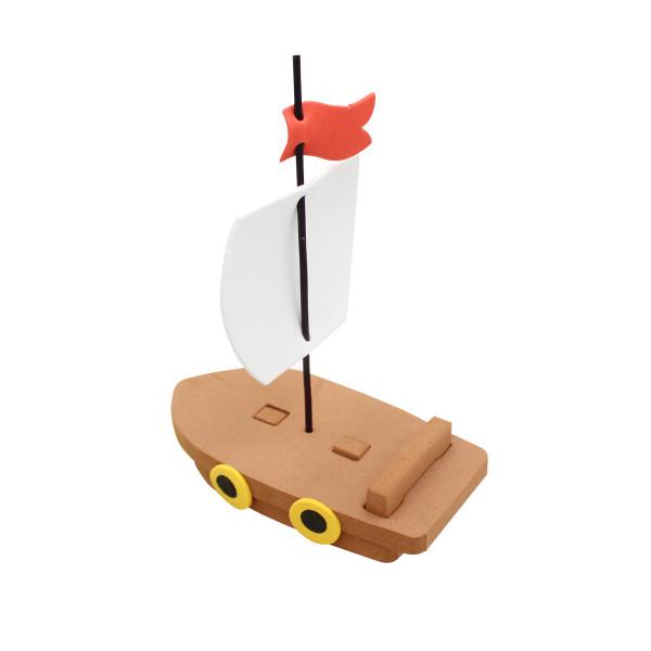 6 x Schiff Segelboot 3D Piratenschiff Piraten Seeräuber Boot Moosgummi Bausatz Mitgebsel Geburtstag