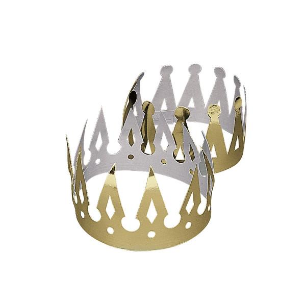 12 x Krone goldfarben Geburtstag Prinz Prinzessin König Königin Mitgebsel Fasching Kopfschmuck