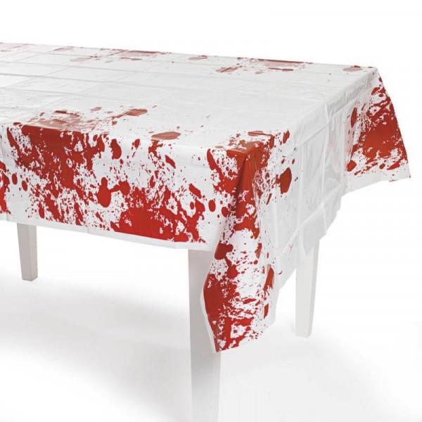 Ekelige und blutige Halloween Tischdecke Deko mit Blutspritzern Blut Horror Halloweendeko abwischbar