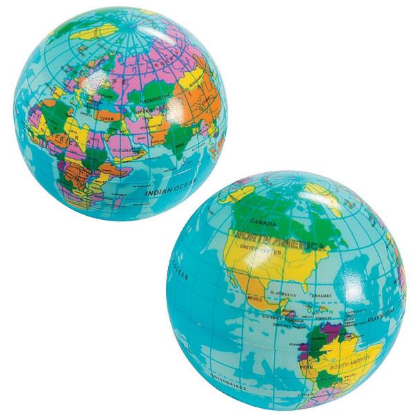 2 x Erde Weltkugel Globus Stressball Ball Weltraum Alien Geographie Reise Geburtstag