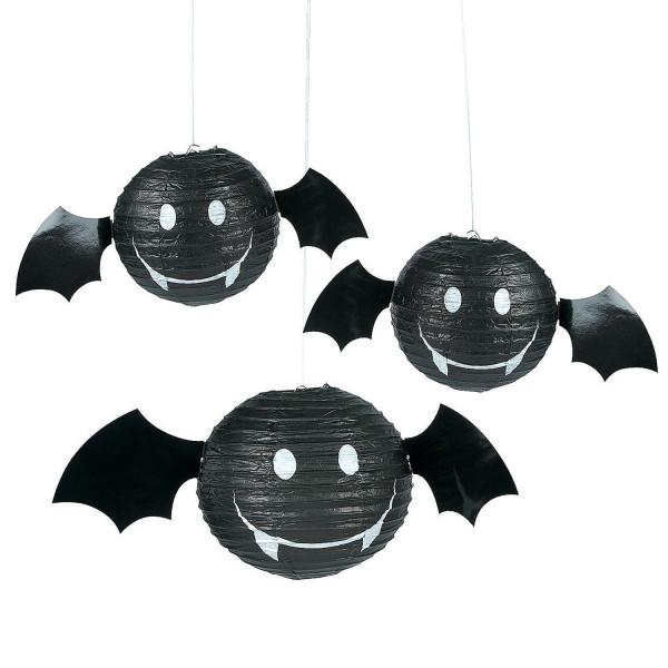 6 x Fledermaus Laterne Lampion Halloweendekoration für Halloween oder Gartenparty