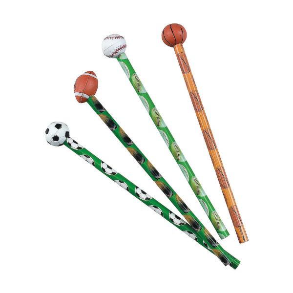 8 x Bleistifte Kindergeburtstag Ball Fußball Basketball Giveaway Mitgebsel Radiergummi Geburtstag Pa