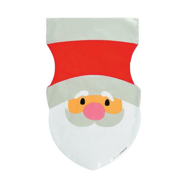 12 x Beutel Tüten Weihnachtsmann Kekstüten Adventskalender