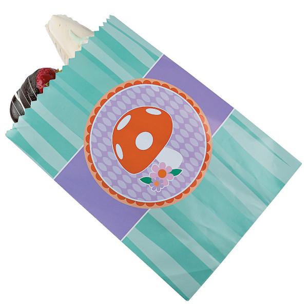 12 x Fliegenpilz Geschenktüte Kekstüte Verpackung Tüte Beutel Einkaufsladen Backen Hochzeit Kekse Ge