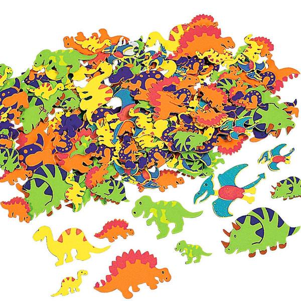 50 x Dinosaurier Moosgummi Sticker für die Dinoparty als Mitgebsel für die Geburtstagsparty