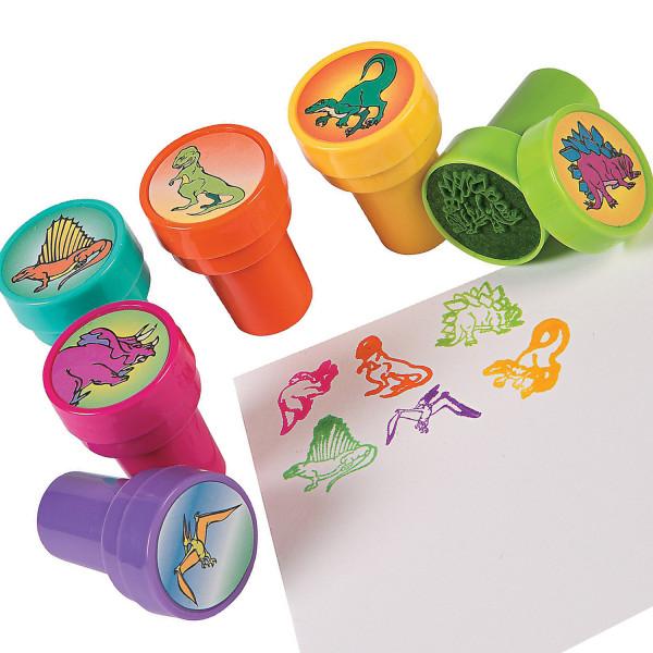 6 x Stempel Dinosaurier Giveaway Dino Geburtstag Adventskalender Mitgebsel Kindergeburtstag Saurier