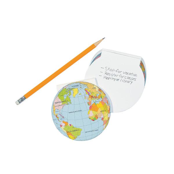 6 x Mitgebsel Notizblock Erde Welt Kindergeburtstag Blöcke Notizen Block Papier Globus