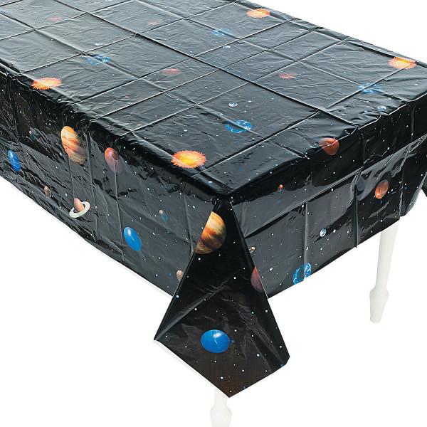 1 x Tischdecke Weltraum Planeten Kindergeburtstag Dekoration Weltall Astronaut Kinderparty