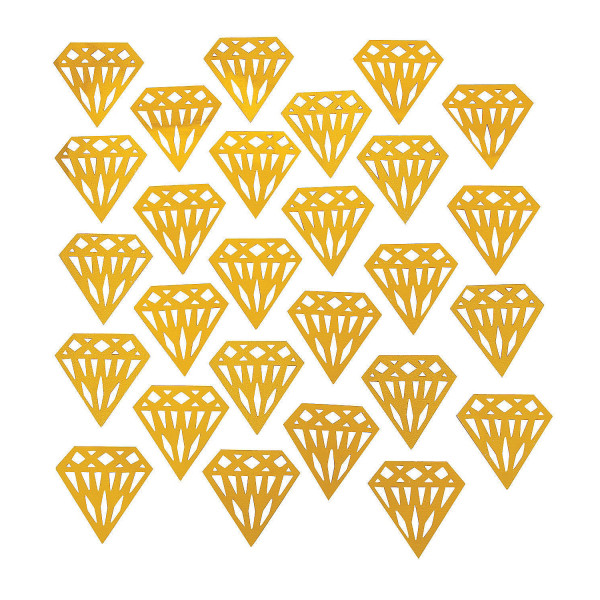 30 St. Diamant Streudekoration Konfetti gold Glitzer Feier Party Hochzeit doppelseitig