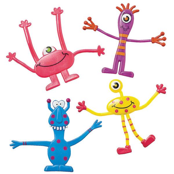 6 x Monster Biegefiguren Monsterparty Kindergeburtstag Mitgebsel Adventskalender Geburtstag