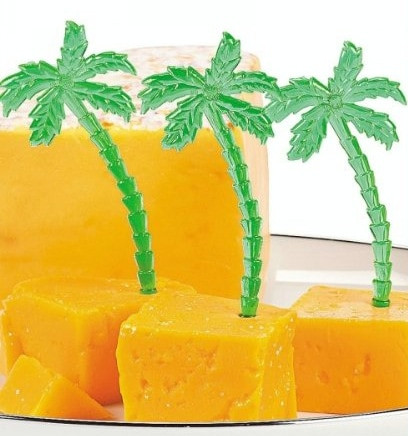 72 Party Palmen Spieße Pieker Südseeparty Aloha Hawaii Picks Piekser Zahnstocher Buffet Fingerfood