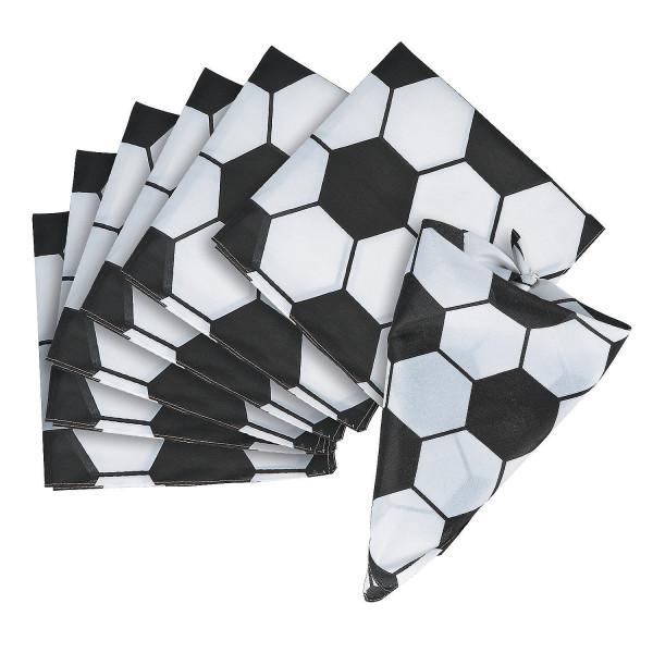 6 x Fußball Kopftuch Soccer Bandana Hut WM Weltmeister EM Fußballparty Mitgebsel Geburtstag