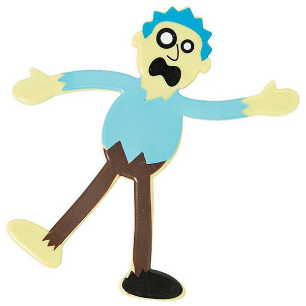 6 x Zombies Biegefigur Figur Untoter Deko Halloween als Tischdeko oder für die Gruselparty
