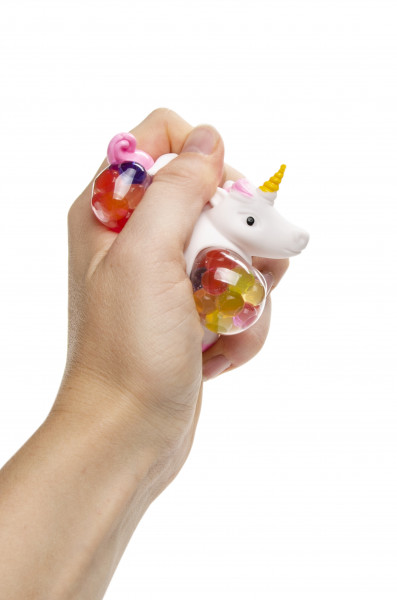 6 x Stressball Einhorn - Squeeze Ball Unicorn - Einhörner für Mottopartys und Kindergeburtstag